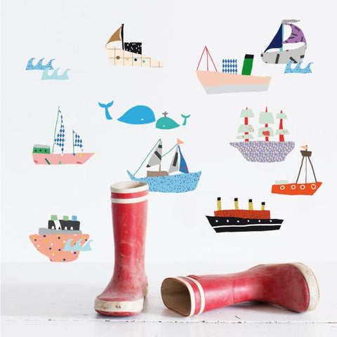 Boats wall sticker