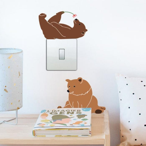Lazy bears wall sticker