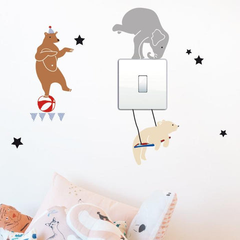 Circus on light wall sticker