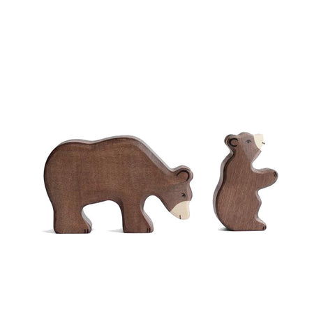Wooden Brown Bear Set