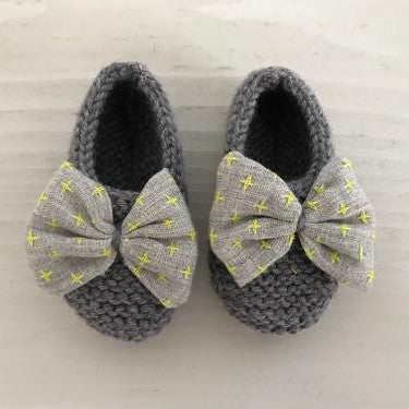 Knitted Bootee - Fluo