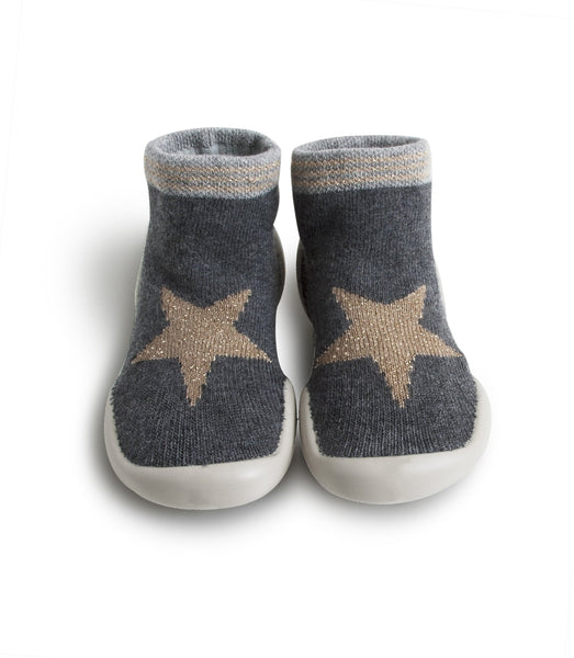 Grey Star Slippers