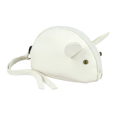 Mouse Coin Purse - White