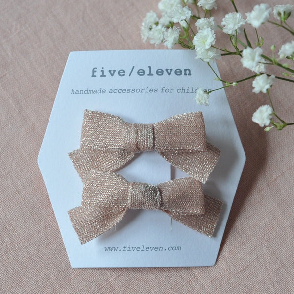 Hair Clip, set of 2 - Japanese Powder Bows