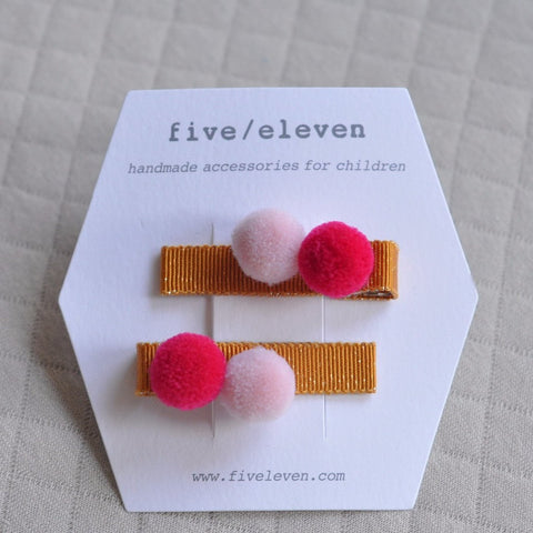 Hair Clip, set of 2 - Masala Poms