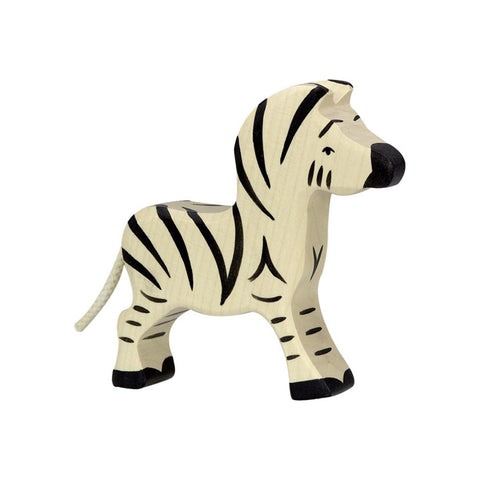 Wooden Young Zebra