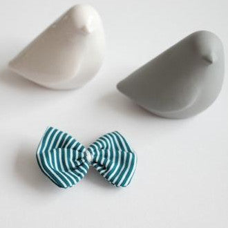 Hair Clip - Green Stripes