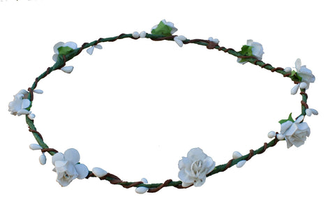 Crown of Flowers, White