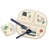 Bamboo Meal Set, Blue