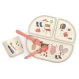 Bamboo Meal Set, Coral