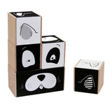 Animal Block Puzzle - Black & White