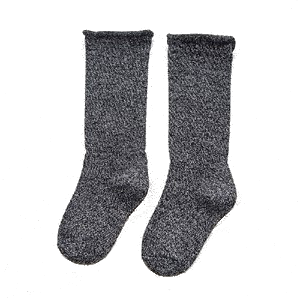 Lurex Socks Black