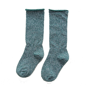 Lurex Socks Green