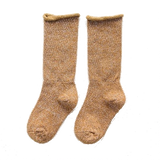 Lurex Socks Ocher