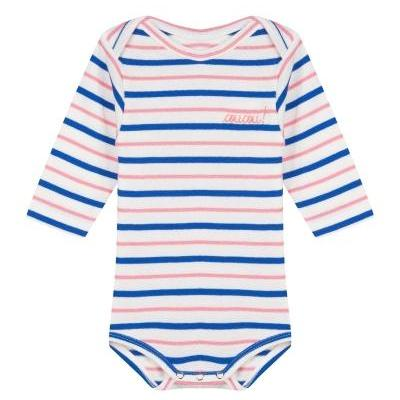 Onesie Long Sleeves Pink Blue White Flag Coucou !