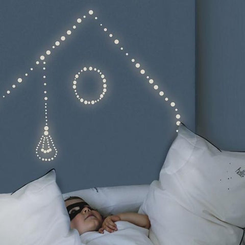 Glow in the dark pellets wall sticker