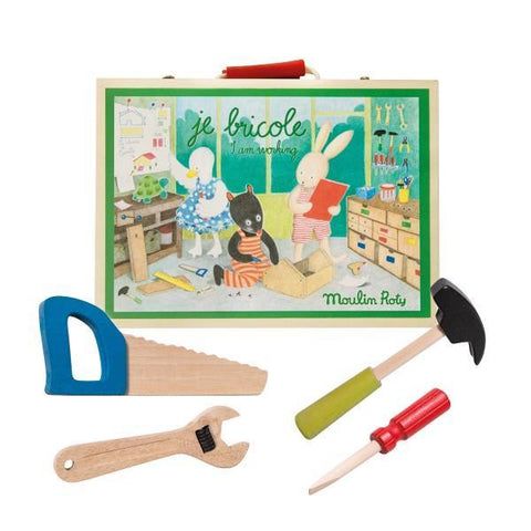 """I am Working"" - Wooden Tool Set"