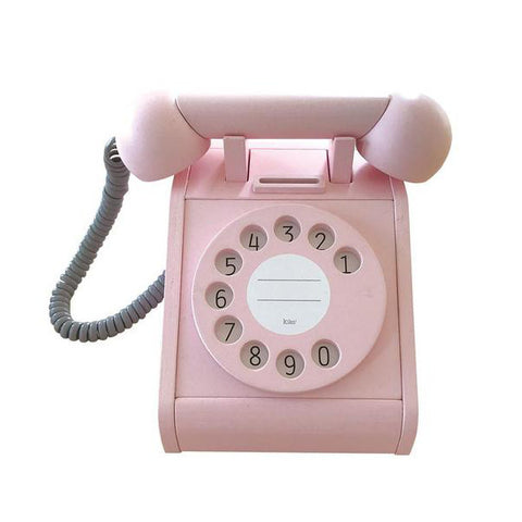 Pink Wooden Telephone
