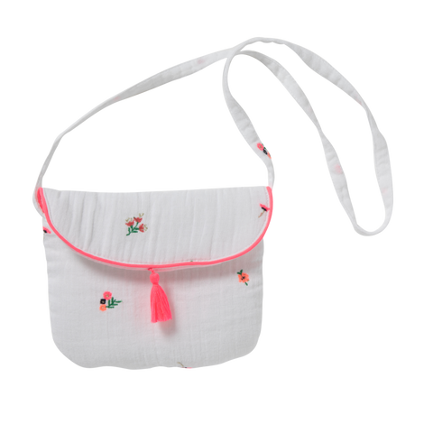 Purse Sia - Fleurettes White
