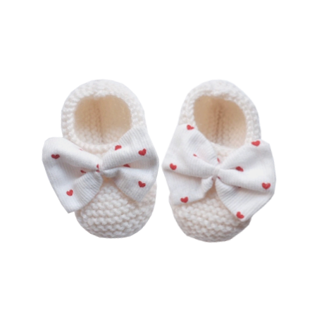 Knitted Bootee, Heart