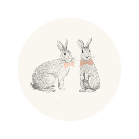 Stickers, Spring Rabbits