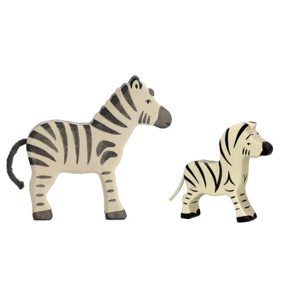 Wooden Zebra Set
