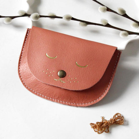 Cat Purse - Coral Pink