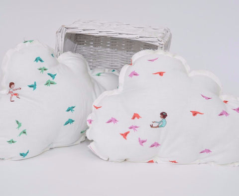 Bird cloud pillow