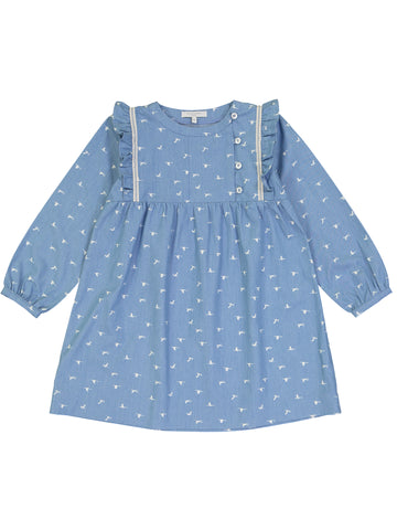 Dress, Birds Denim