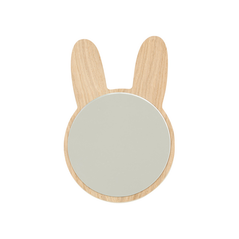 Rabbit Wooden Mirror