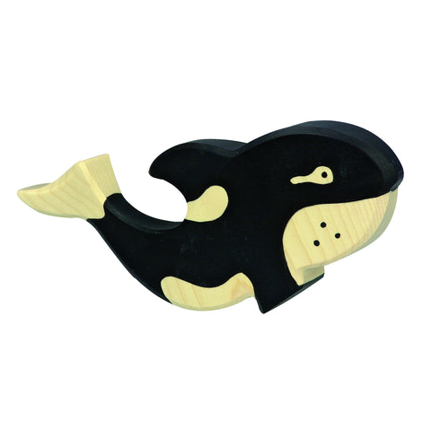 Orca Wooden Figurine
