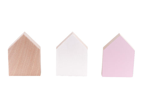 Coat Hooks Light Pink x3