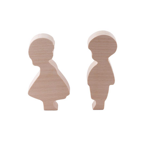 Wooden Boy and Girl