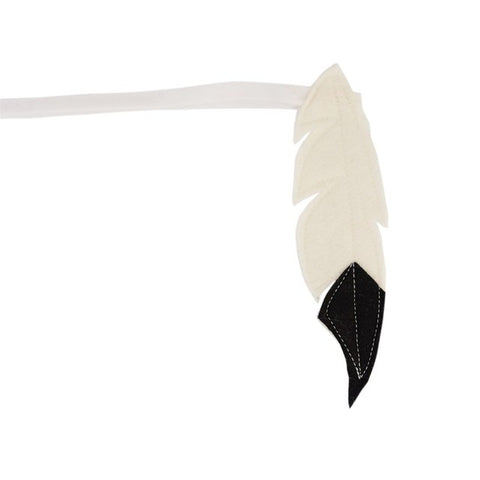Indian feather headband - Black/White