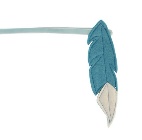 Indian feather headband - Blue