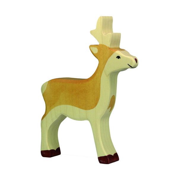 Roe buck Wooden Figurine