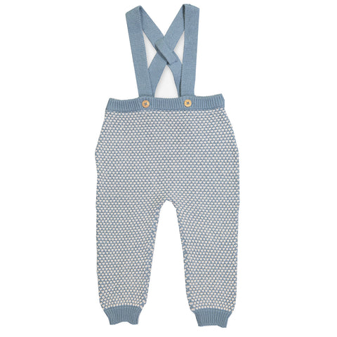 Knitted Pants, Blue (Organic)