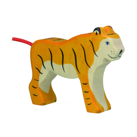Wooden Tiger Figurine
