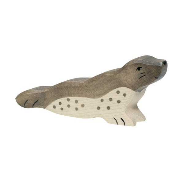 Wooden Seal Figurine
