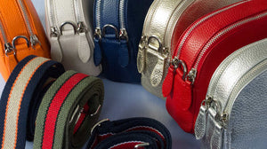 leather handbags and straps