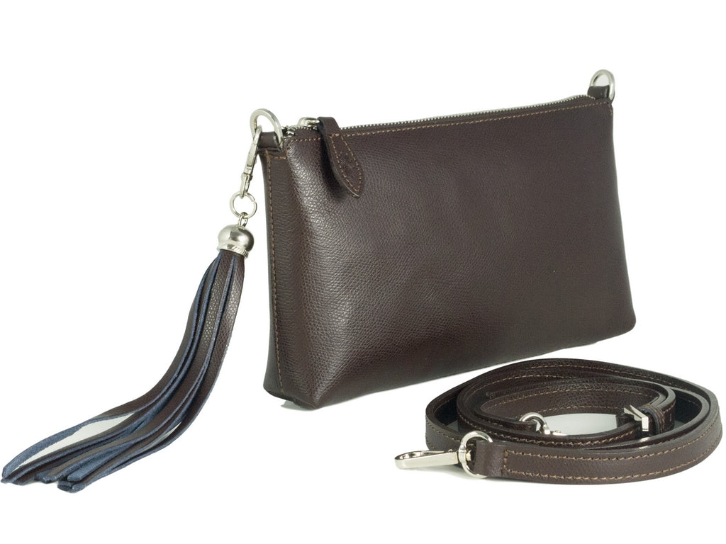 brown palmellato leather cross body bag