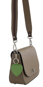 Tauple Beige Saffiano leather saddlebag