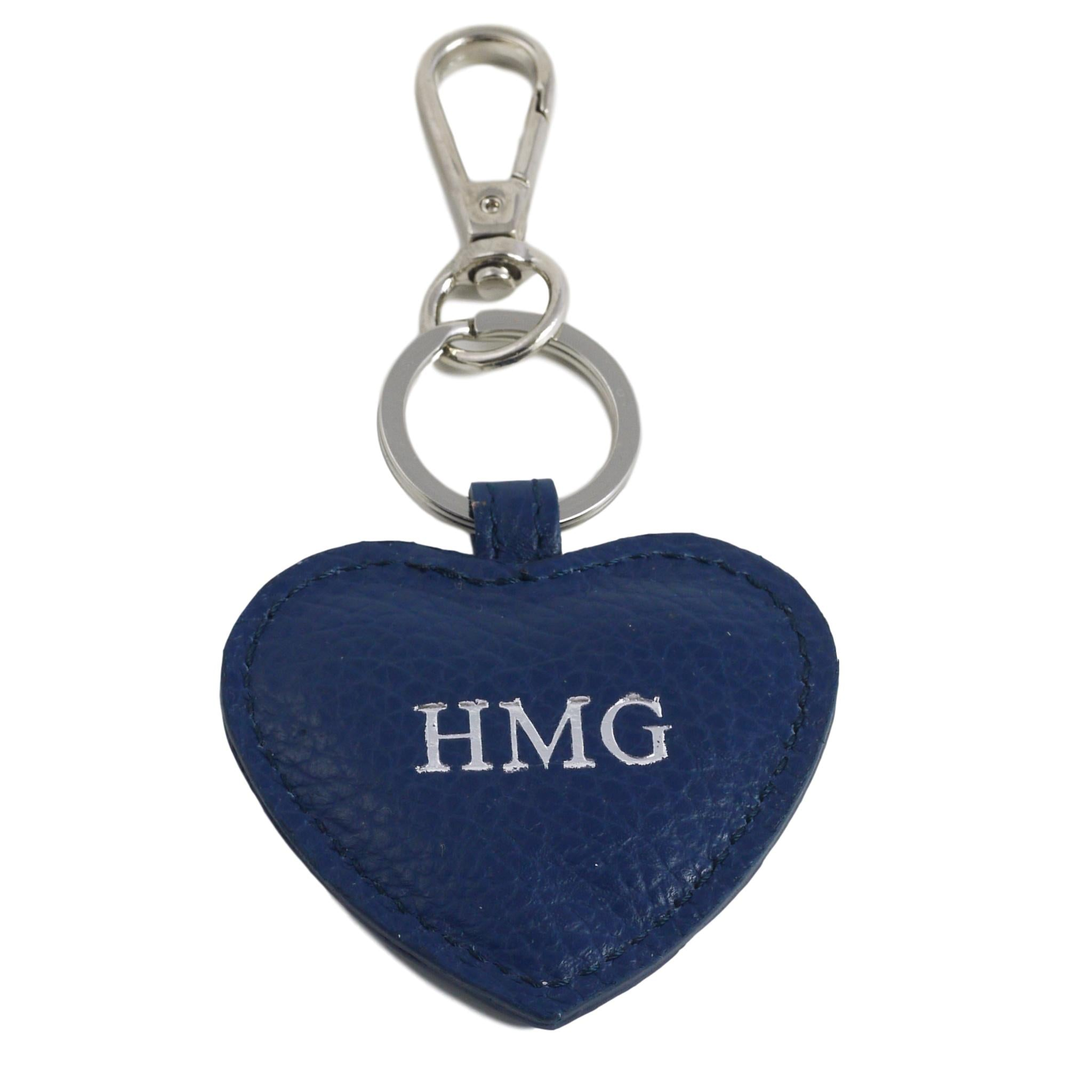 Blue Heart with silver text