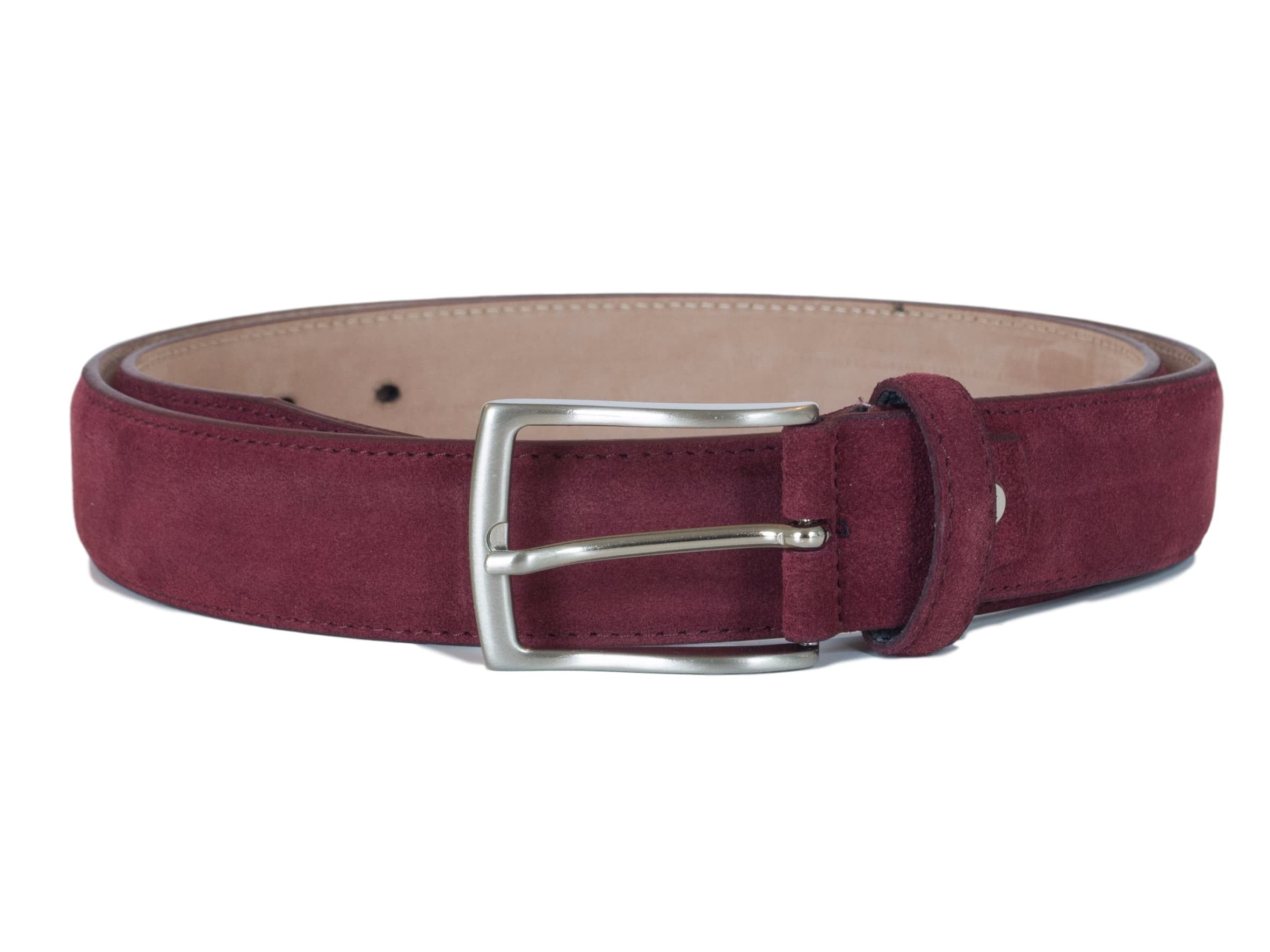 bordeaux wine red leather belt