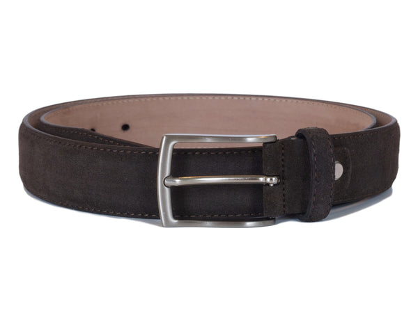 Brown seude belt