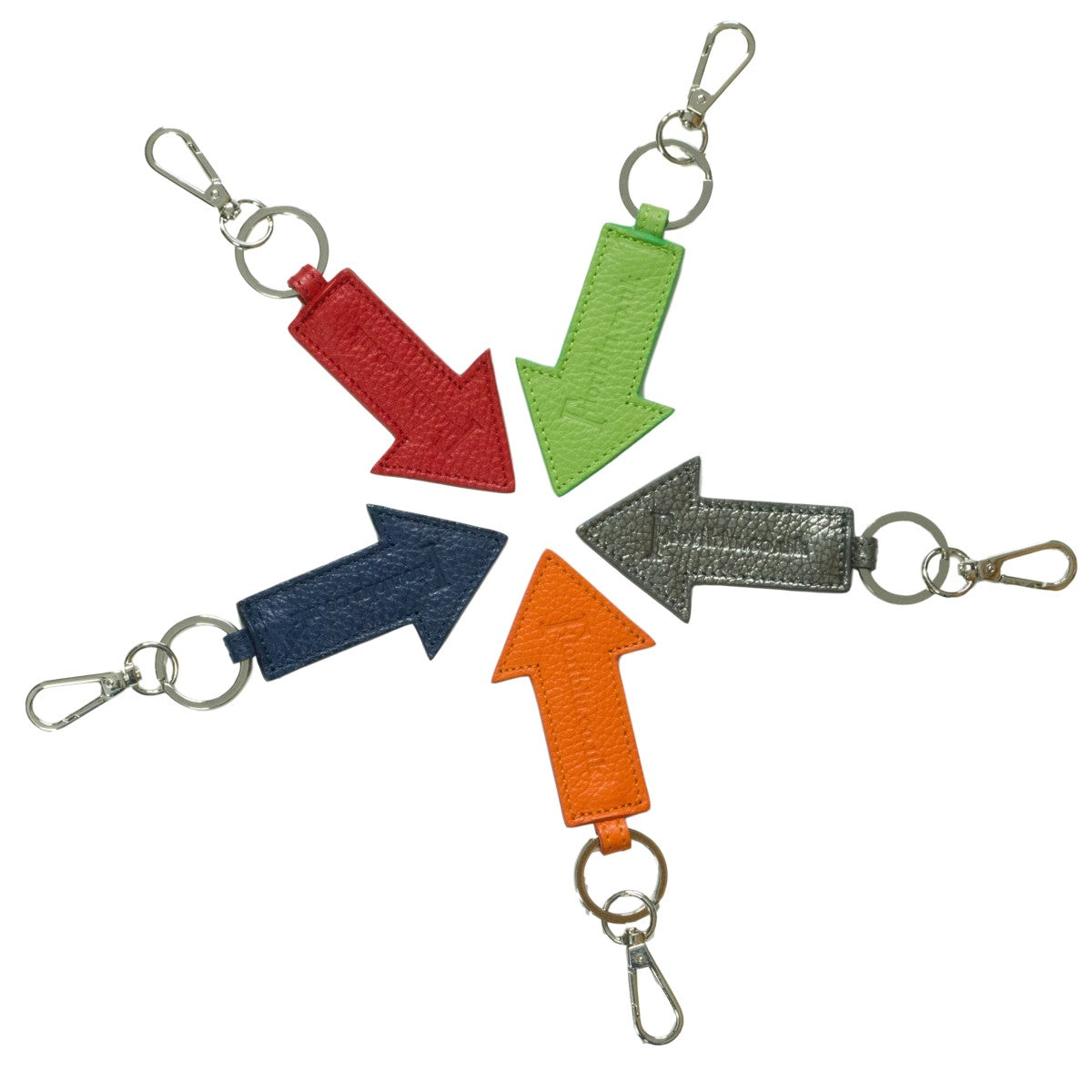 Arrow leather keyrings which can be personalised.