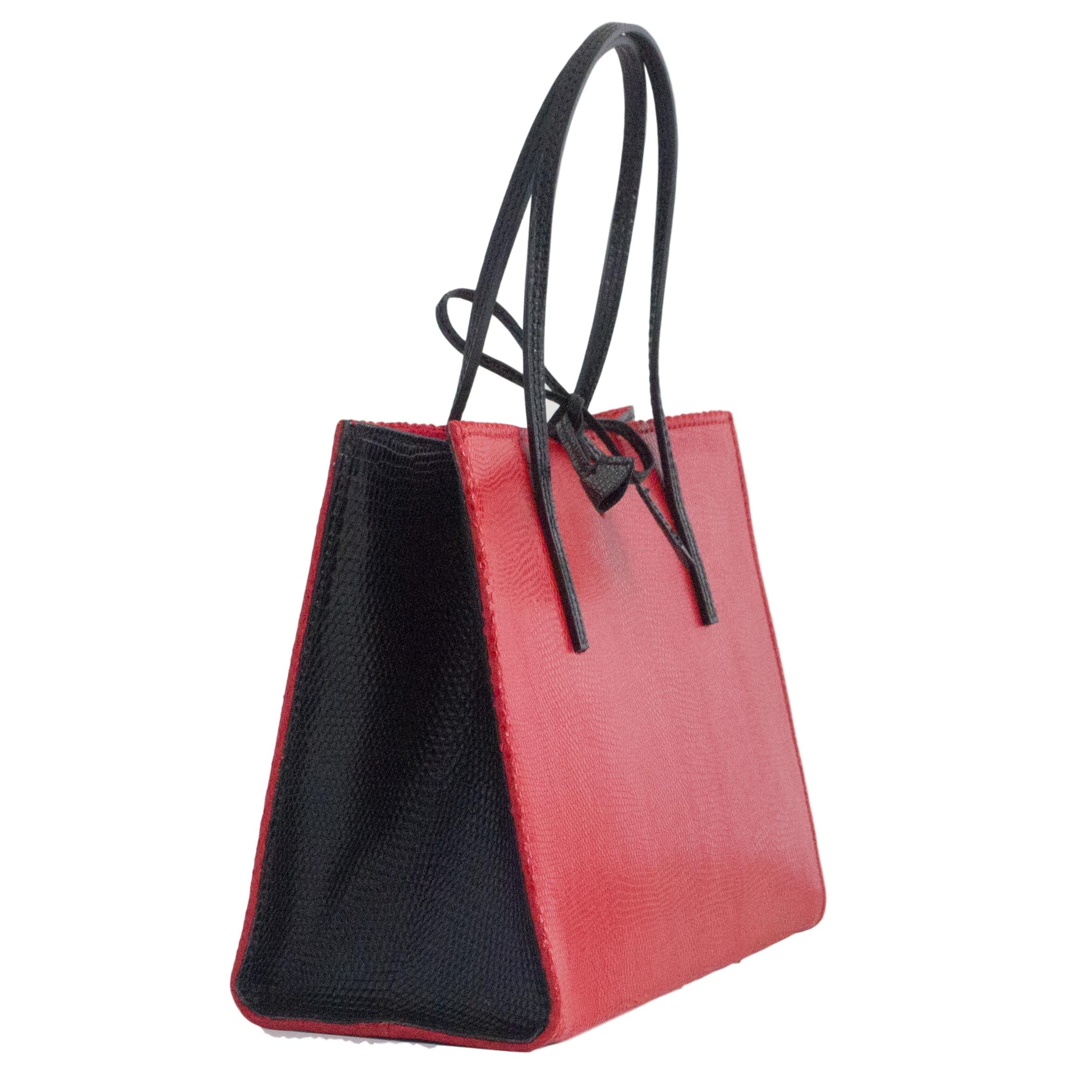 Red and Black occasion small tote bag