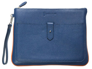 Foxglove padded clutch bag