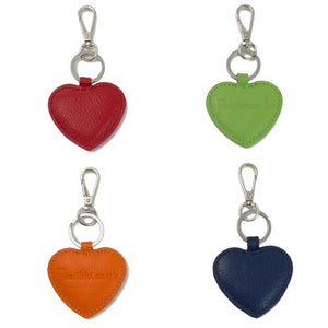 Heart shaped leather key ring