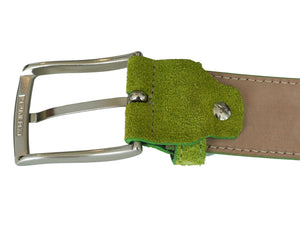Lime green belt buckle reverse